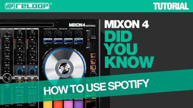 Reloop Mixon 4 DJ Controller - Easy Track Loading From Spotify - Did You Know? (Tutorial)