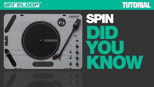 Reloop SPIN the Portable Turntable System - Did You Know? (Tutorial)
