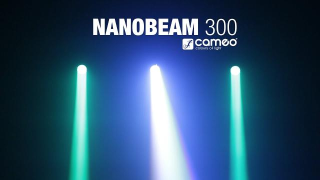 Cameo NanoBeam 300 - 1 x 30 W Cree LED RGBW Mini Moving Head with Unlimited Pan incl. IR-Remote