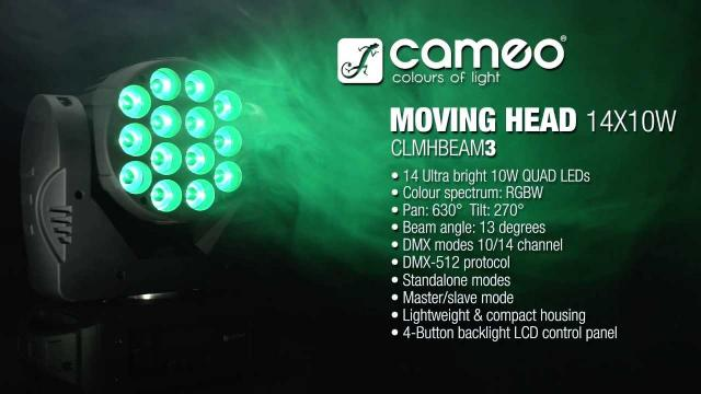 Cameo Light MOVING HEAD 14x10 - LED Moving Head RGBW 14x10 W