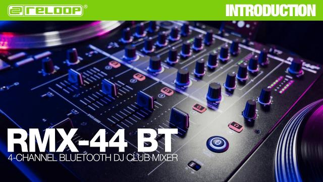 Reloop RMX-44 BT | 4-Channel Bluetooth DJ Club Mixer (Introduction)