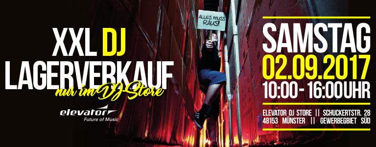 XXL DJ Lagerverkauf 2017