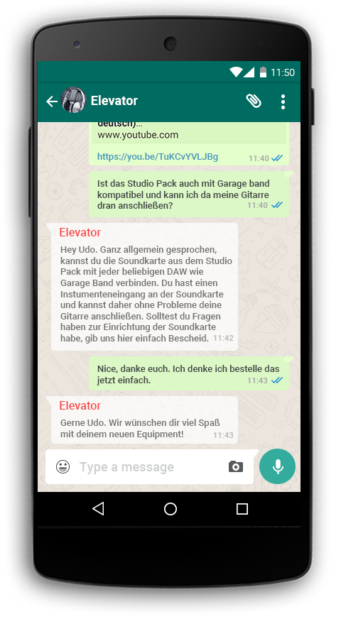 Elevator Whatsapp Support