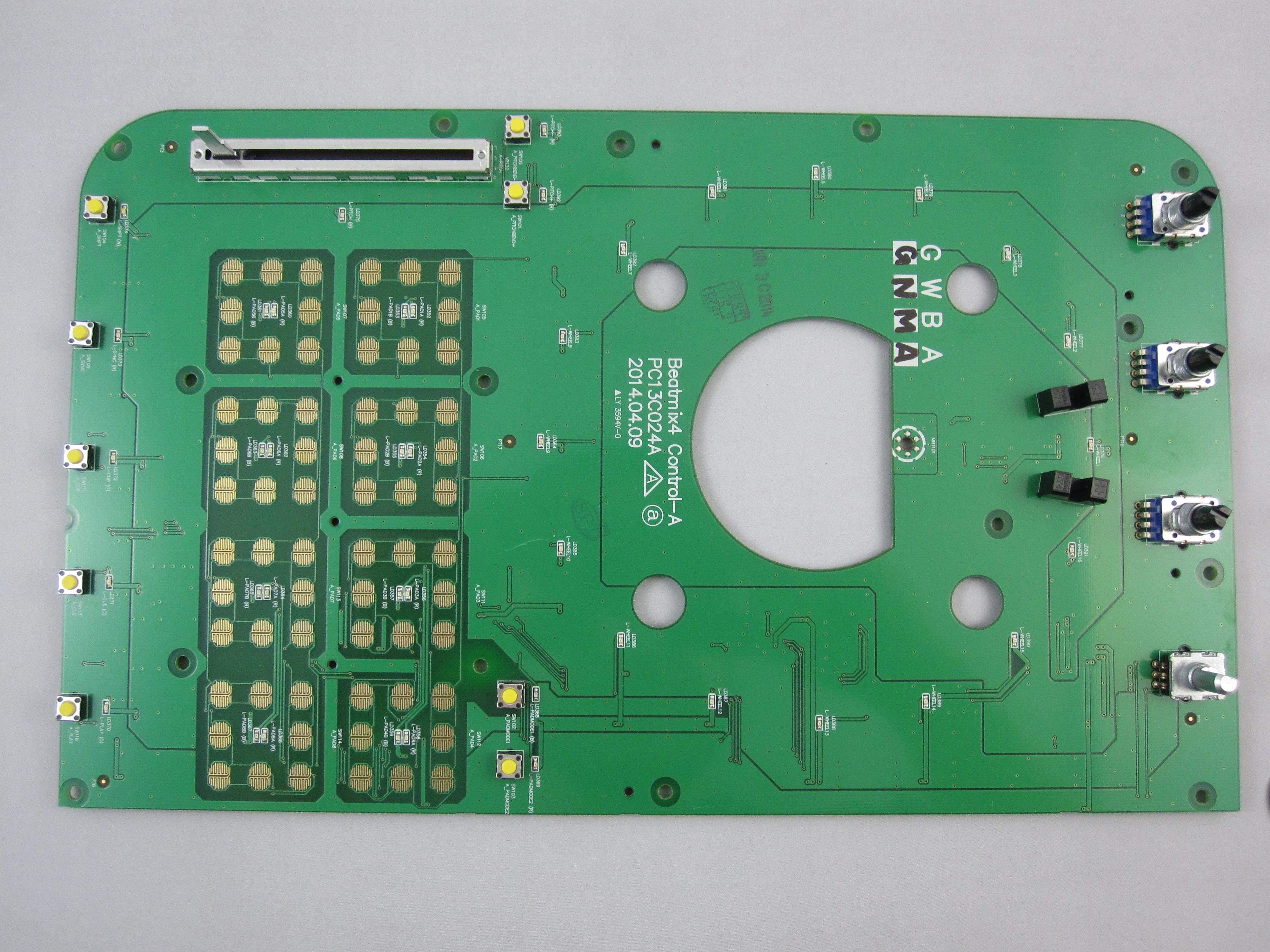 Reloop Beatmix 4 mixer pcb a (left) 233927