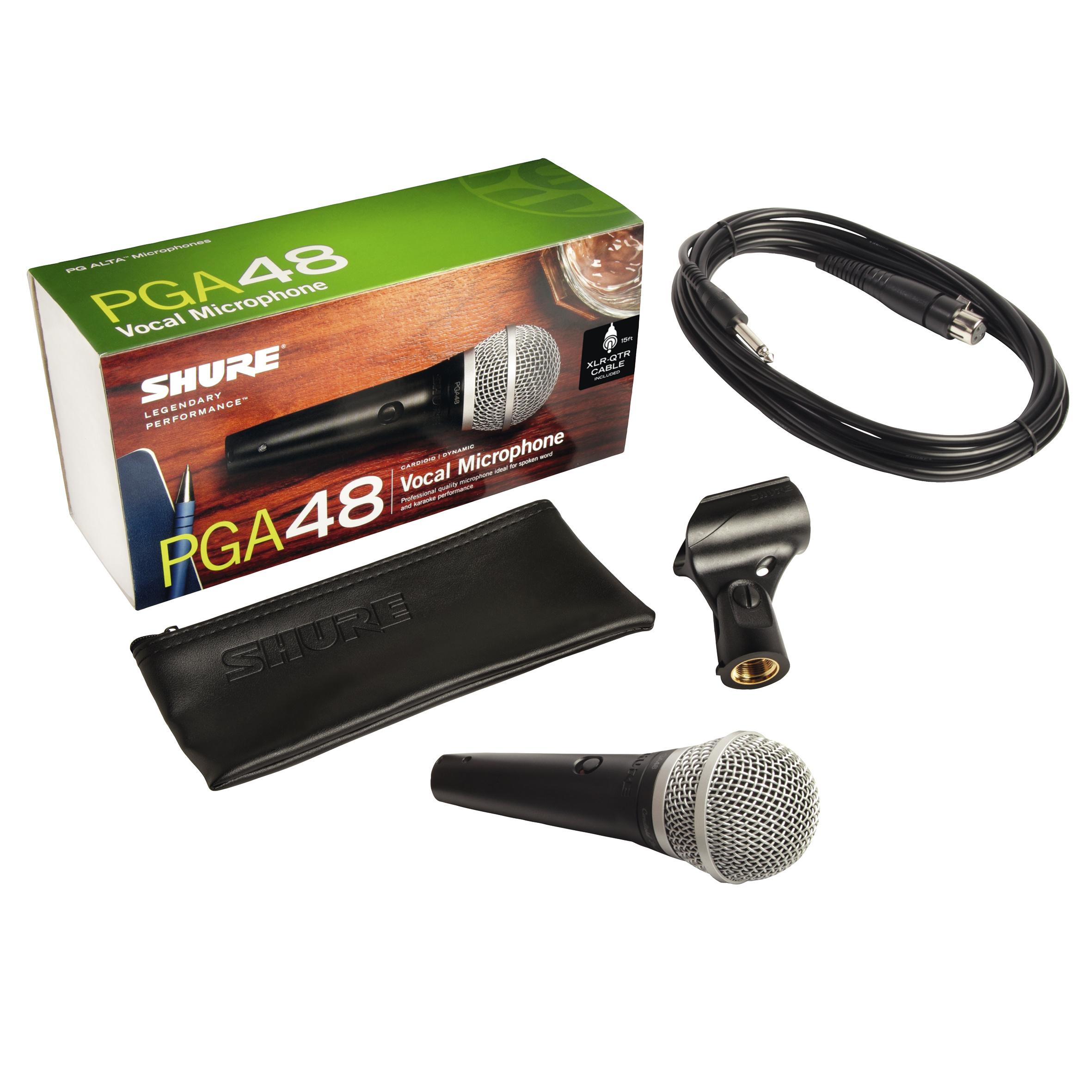 Shure PGA 48 QTR inkl. XLR-Klinke-Kabel 235408