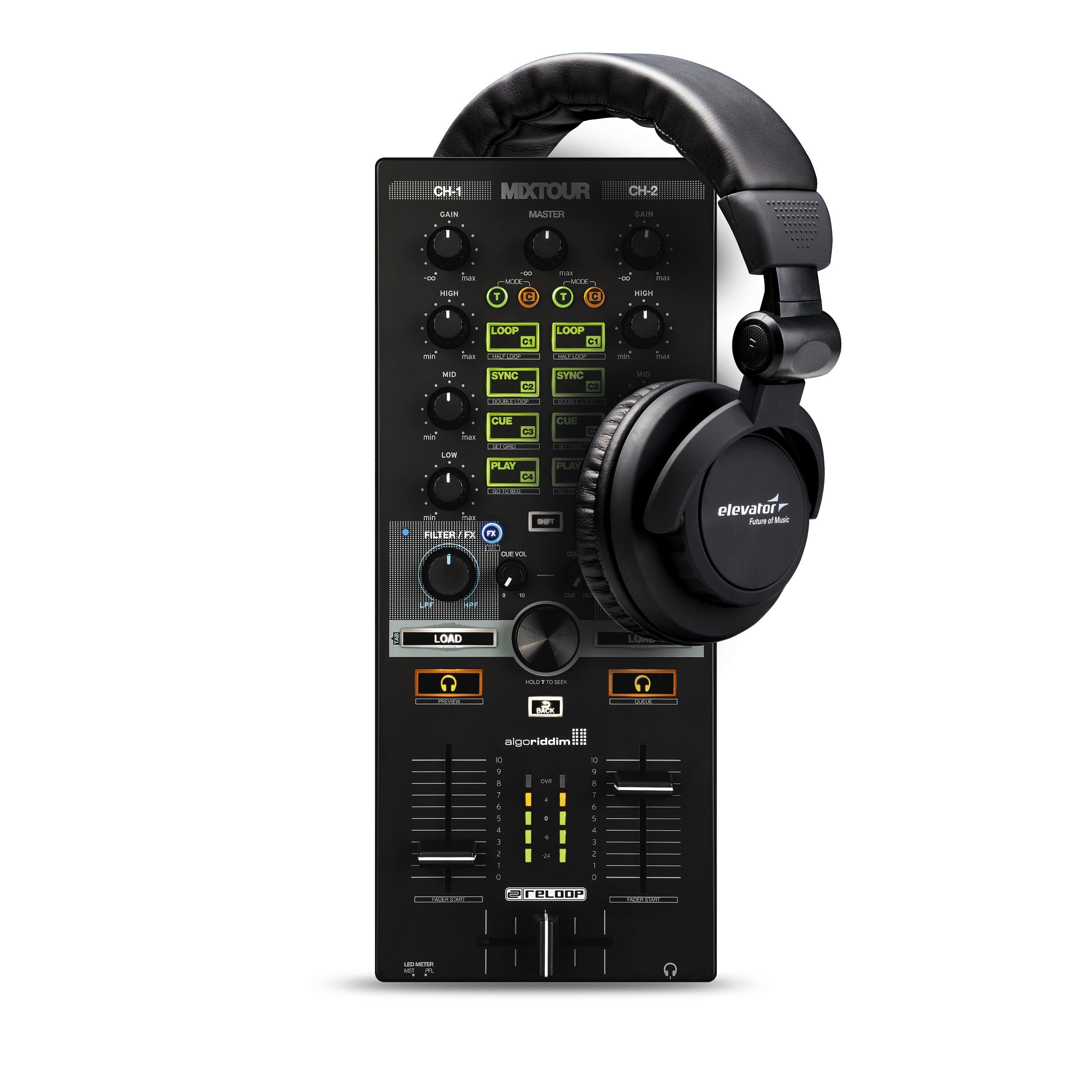 Reloop Mixtour + Elevator Kopfhörer 237254