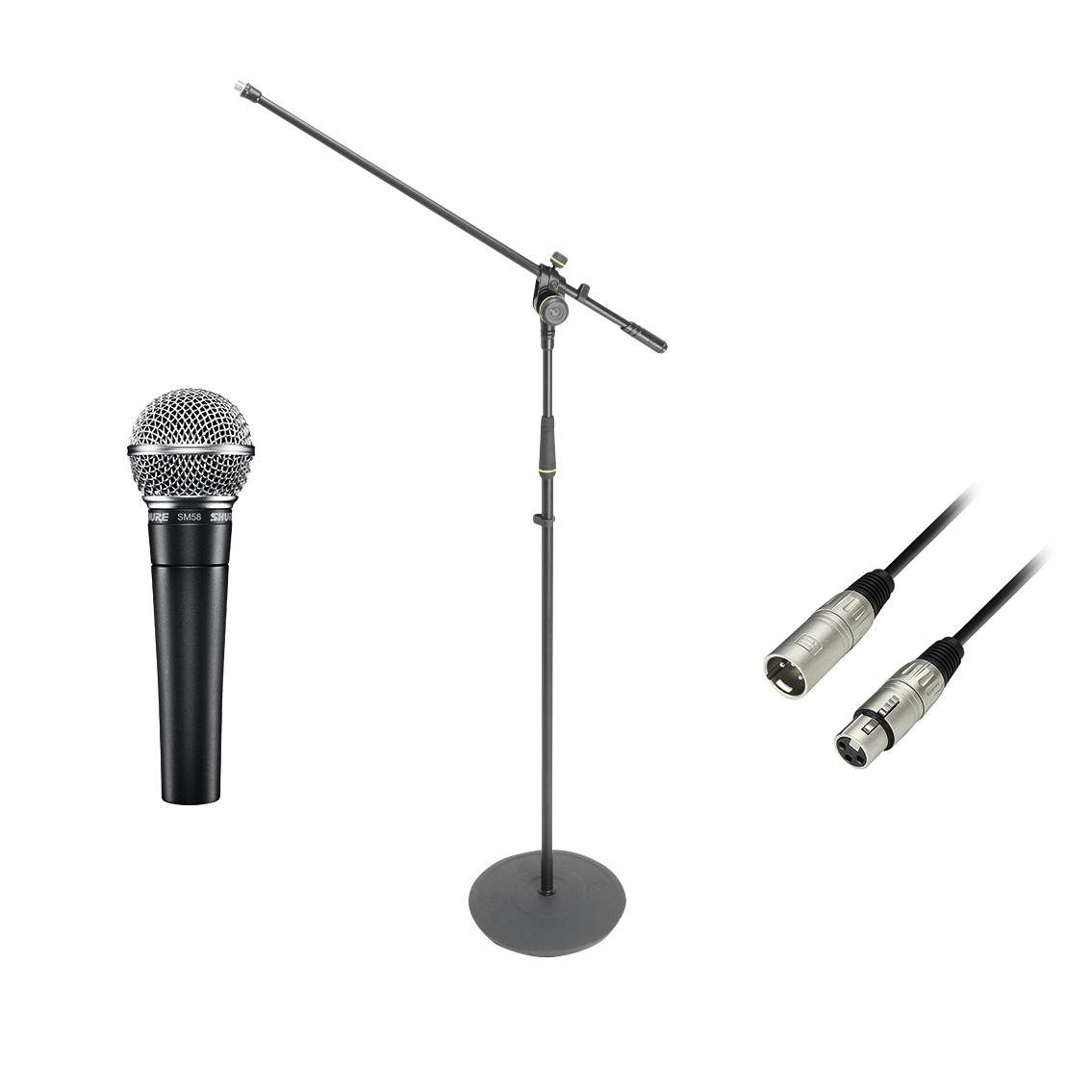 Shure SM-58 Mikrofon Bundle SM-58SE + Gravity Mikrofonständer + Kabel 237934