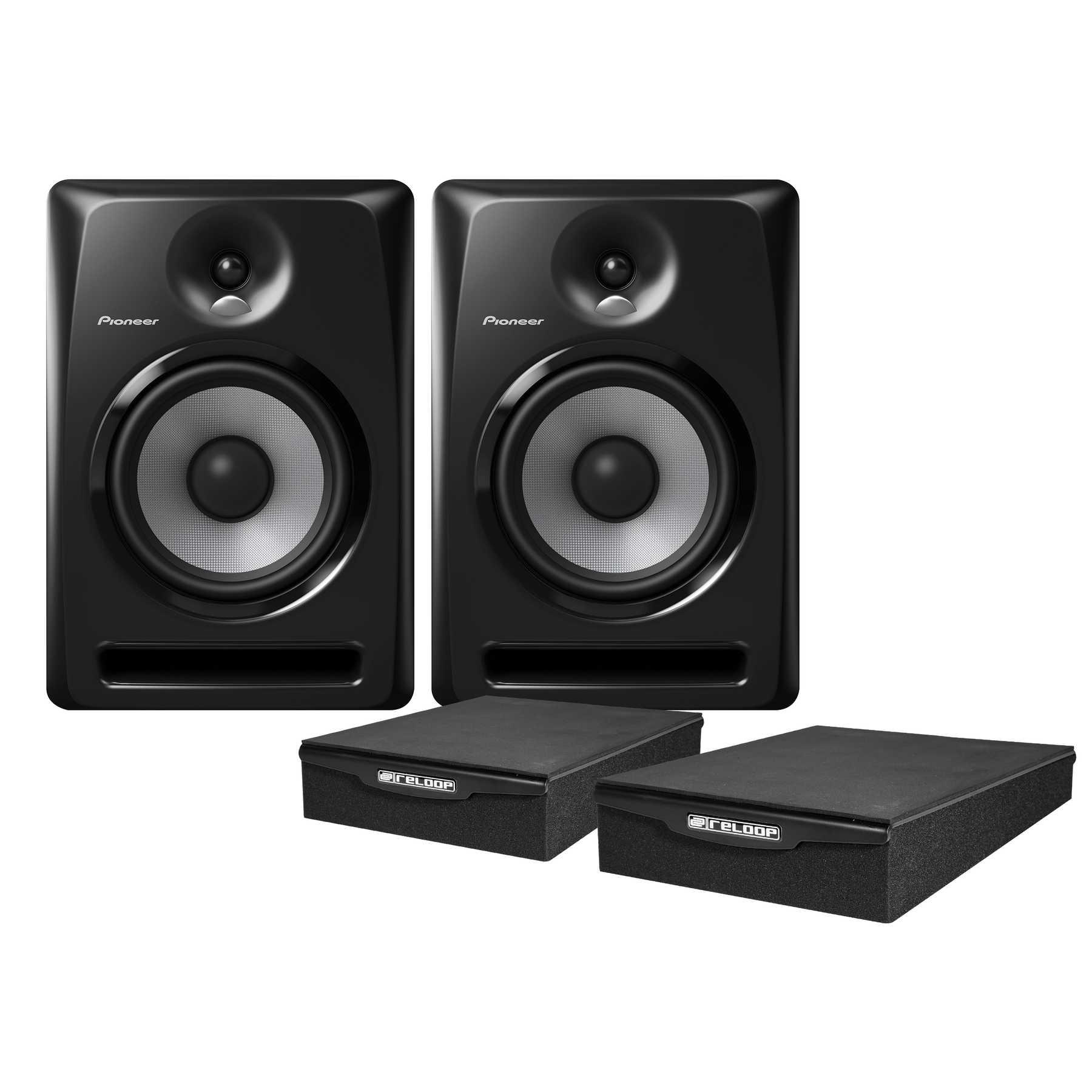 Pioneer S-DJ80X Monitor Pad Bundle 240974