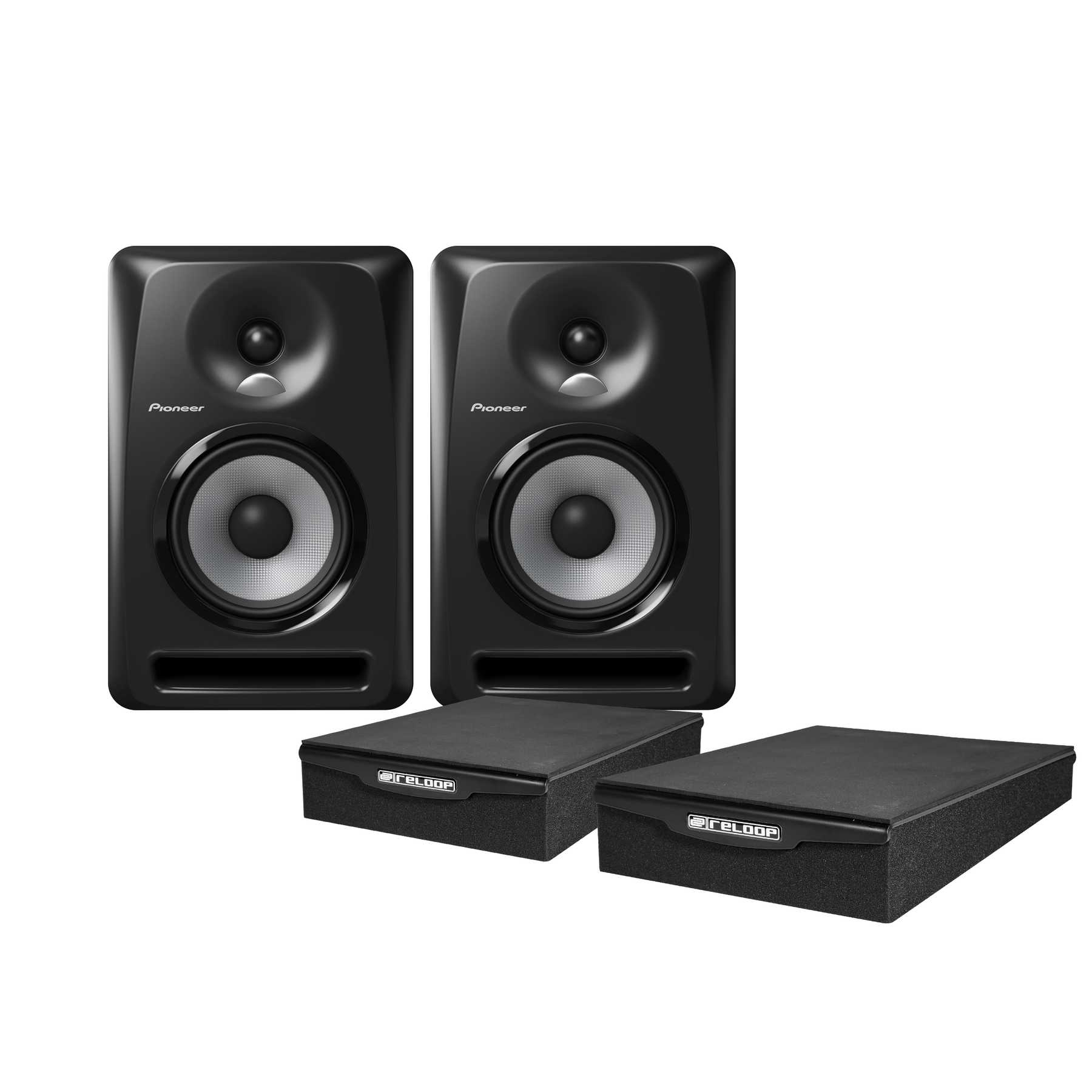 Pioneer S-DJ50X Monitor Pad Bundle 240978