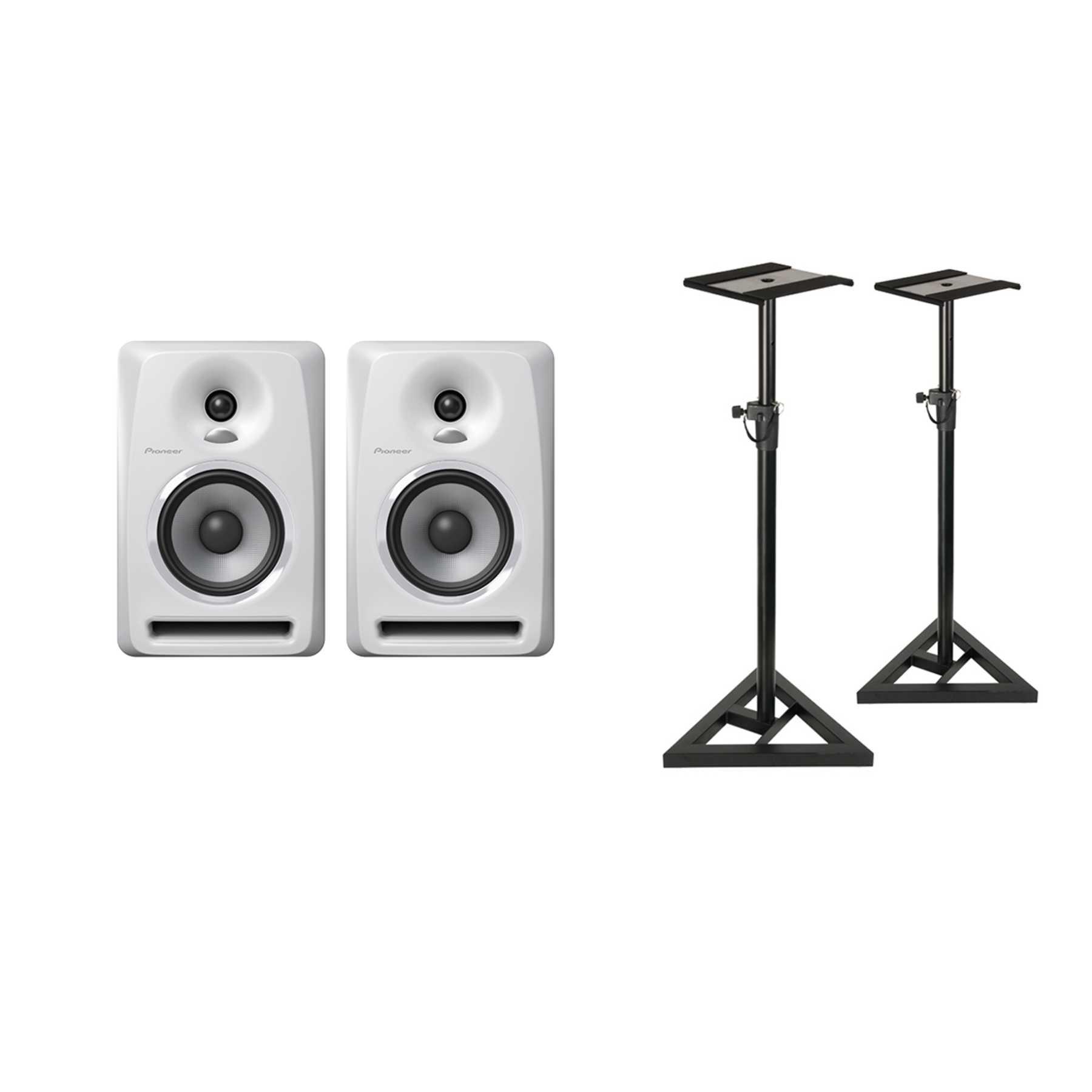 Pioneer S-DJ50X-W Monitor Stand Bundle 240980