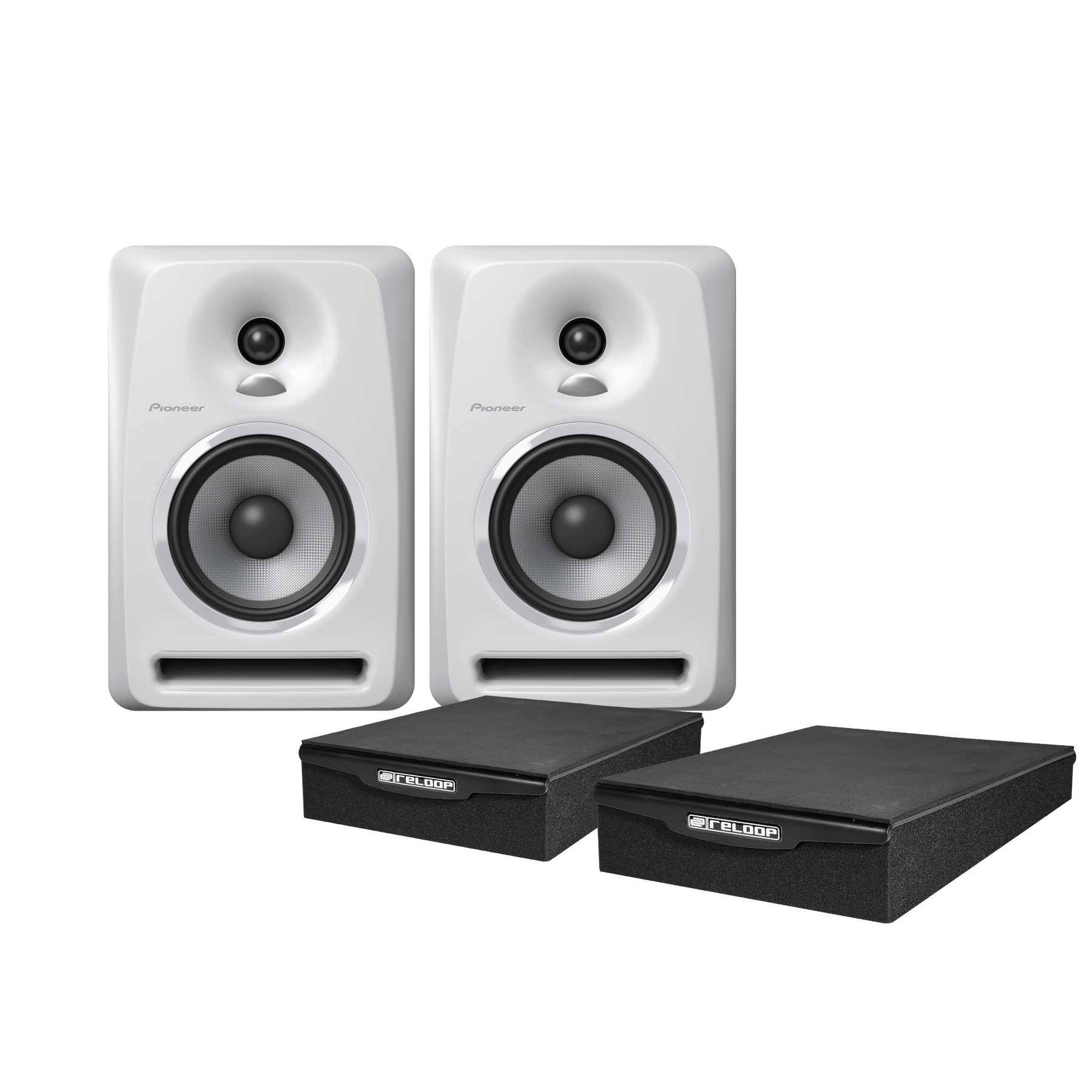 Pioneer S-DJ50X-W Monitor Pad Bundle 240981