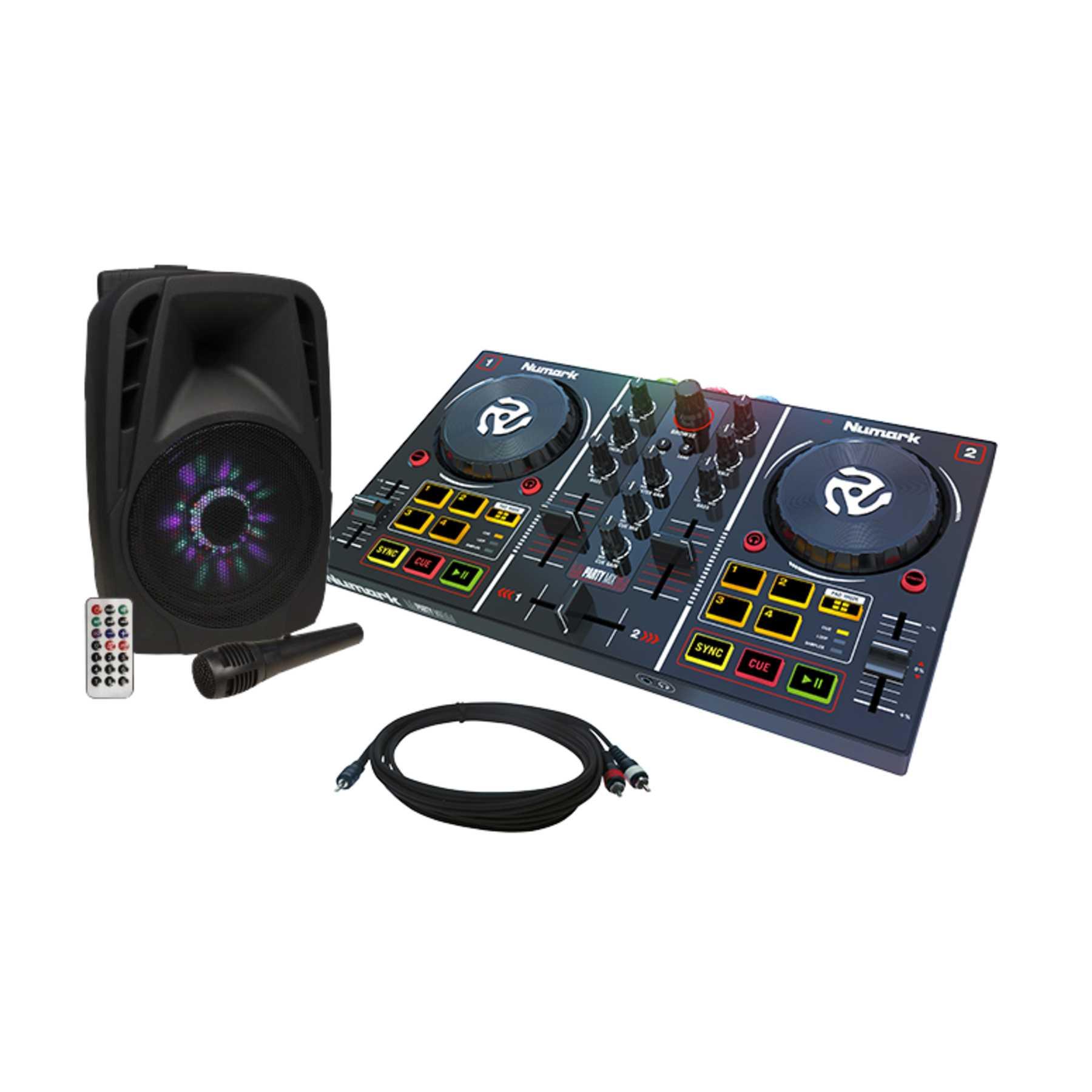 Numark Party Mix + Hollywood MB-8 LED Lautsprecher 241388