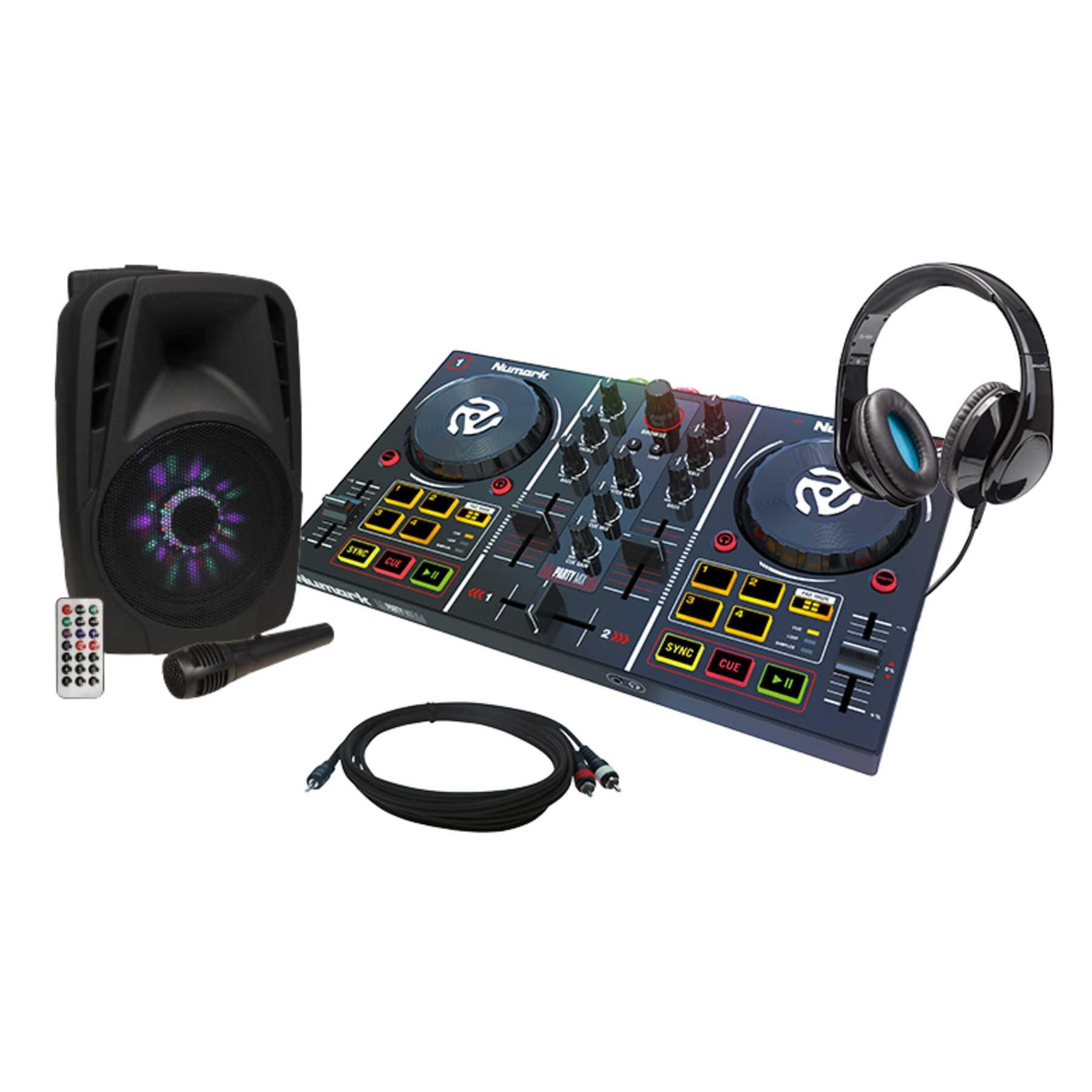 Numark Party Mix + Elevator DJ-500 + Hollywood MB-8 LED Lautsprecher 241389
