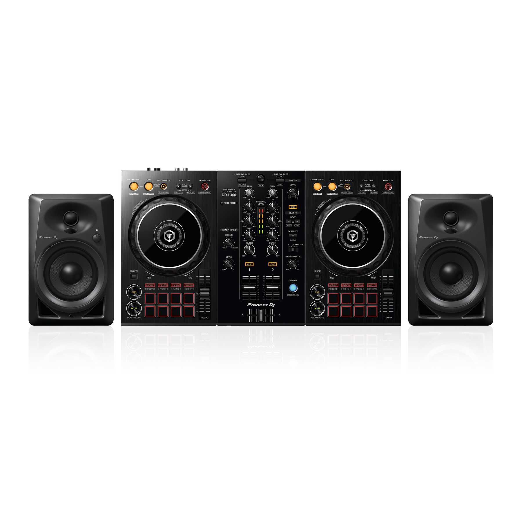 Pioneer DJ DDJ-400 + DM-40 Monitorlautsprecher 241489