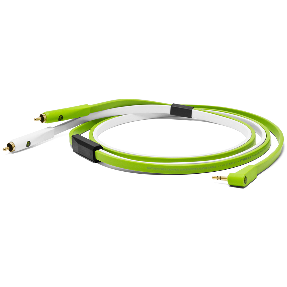 NEO-W by Oyaide NEO-W Oyaide Kabel mit Stereo-Cinch / 3,5mm Stereo-Mini-Klinke, 2,5m 241686