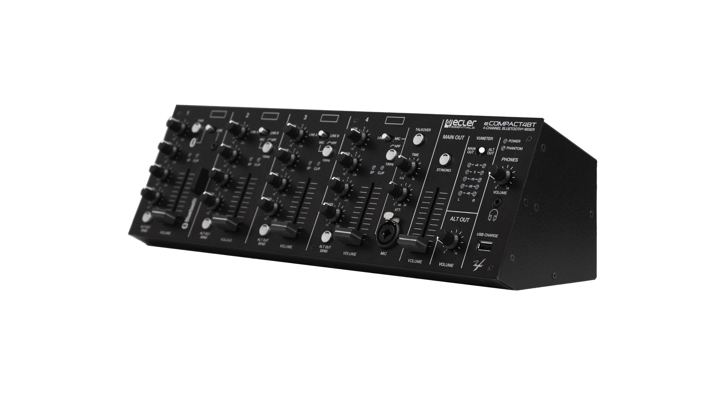 Ecler eCOMPACT4BT 4-Kanal-Mixer mit Bluetooth-Verbindung 242913