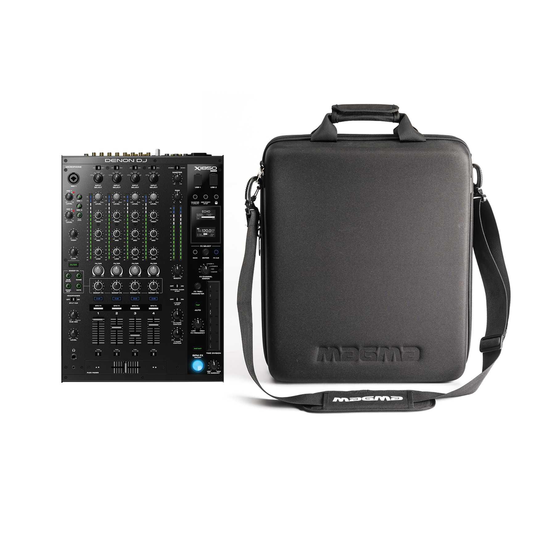 Denon DJ Prime Series Denon DJ Prime X1850 PRIME + Magma CTRL Case CDJ/Mixer II 243647