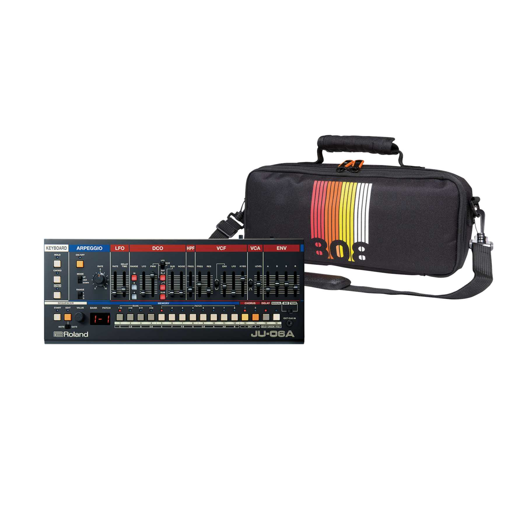 Roland Boutique JU-06 A + CB-PTR8 Boutique TR-808 Bag 243961