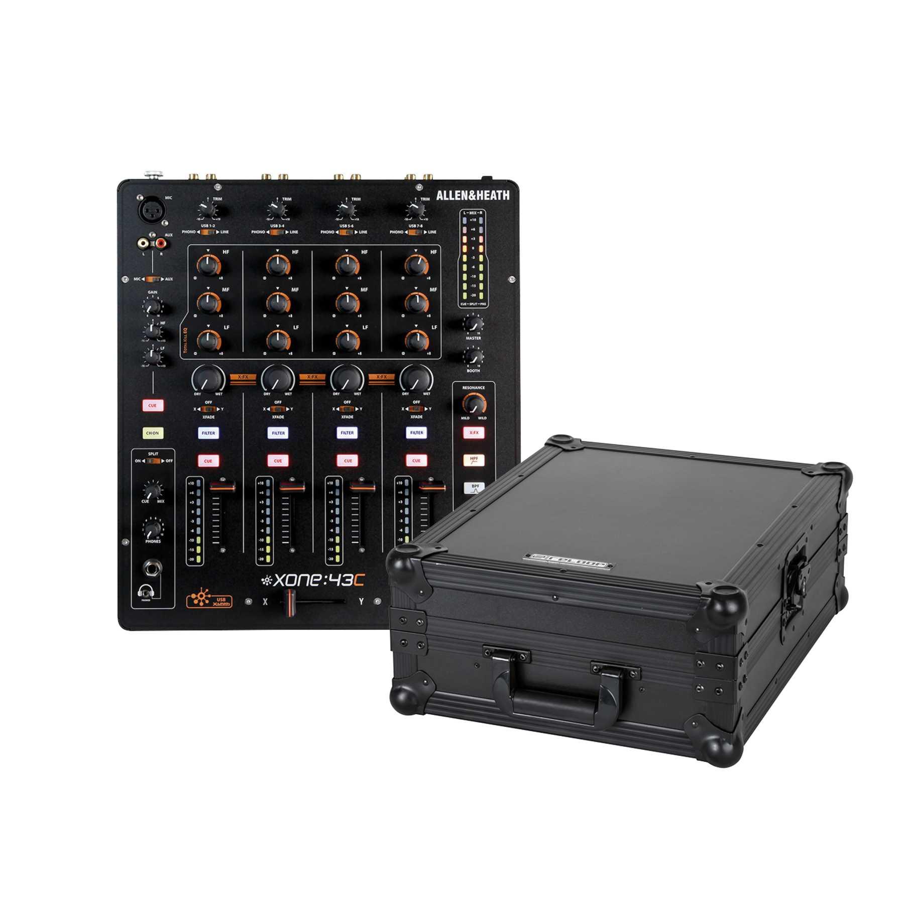 Allen & Heath Xone 43C + Reloop Mixer Case 244030