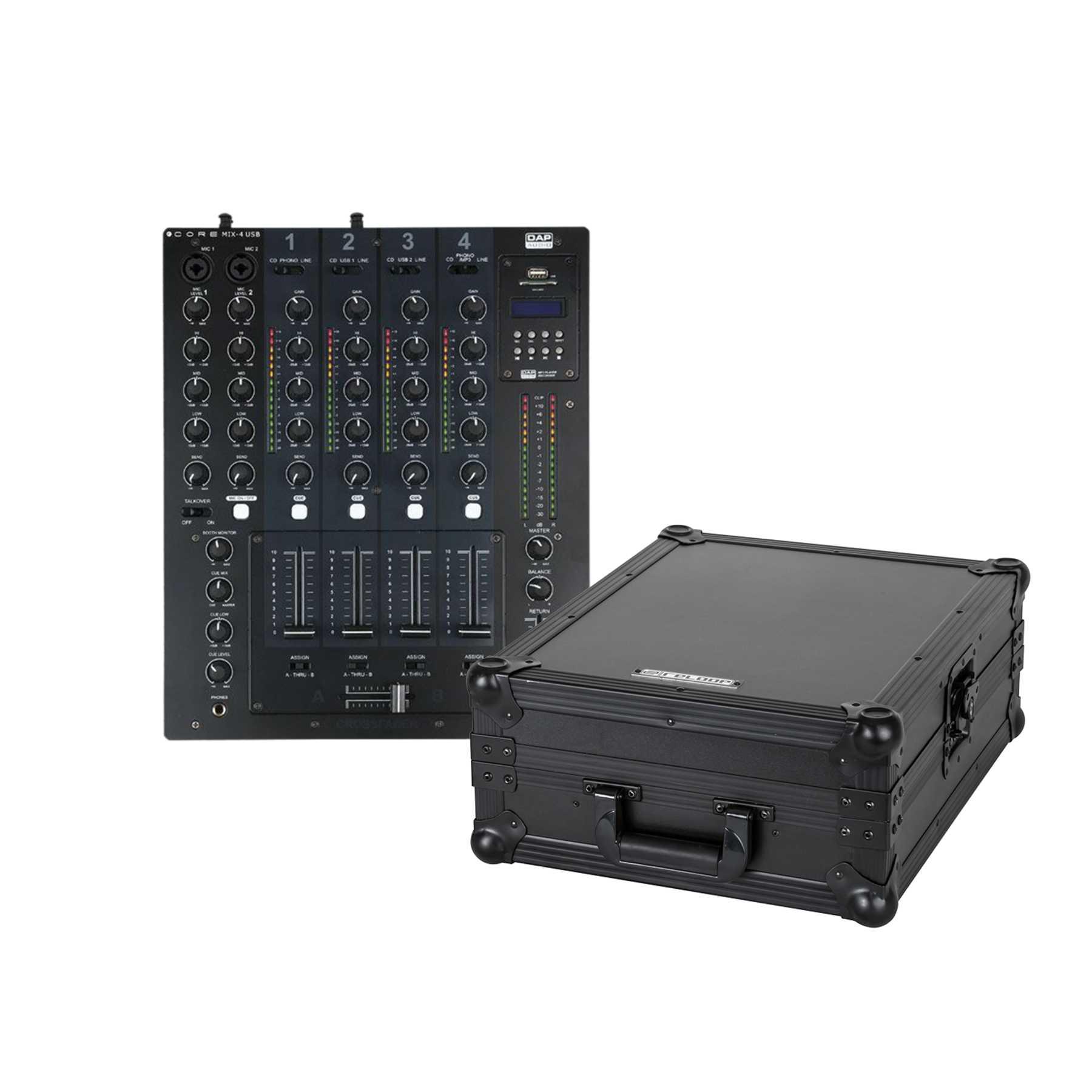 DAP Core MIX-4 USB + Reloop Mixer Case 244032