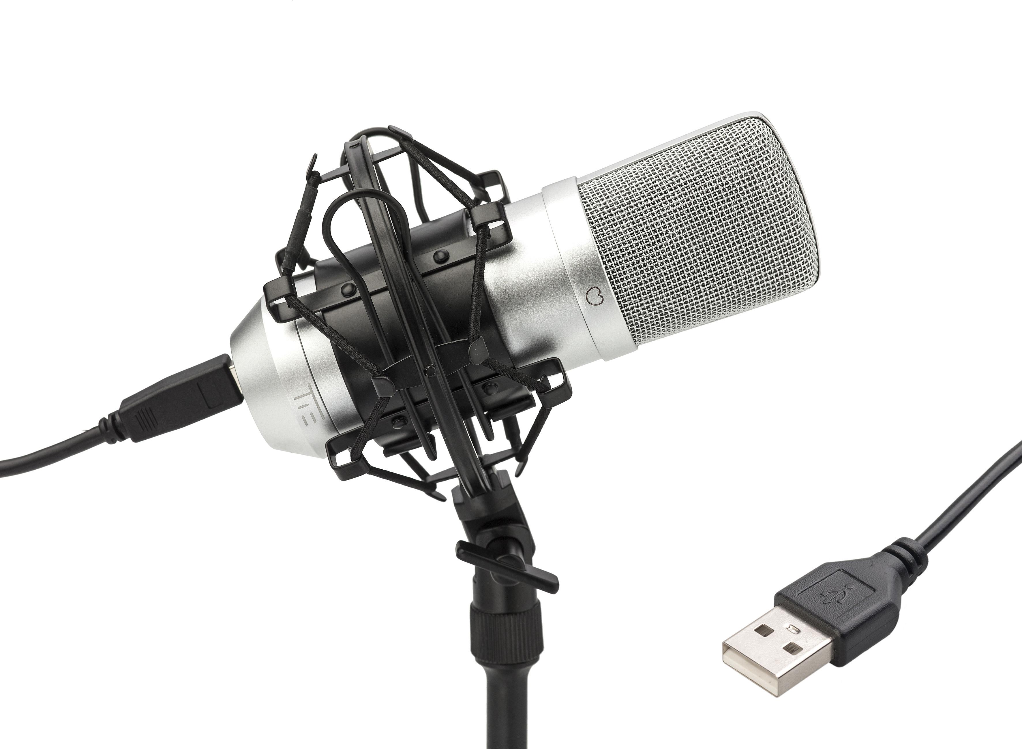 TIE Condenser Mic USB silver 244975