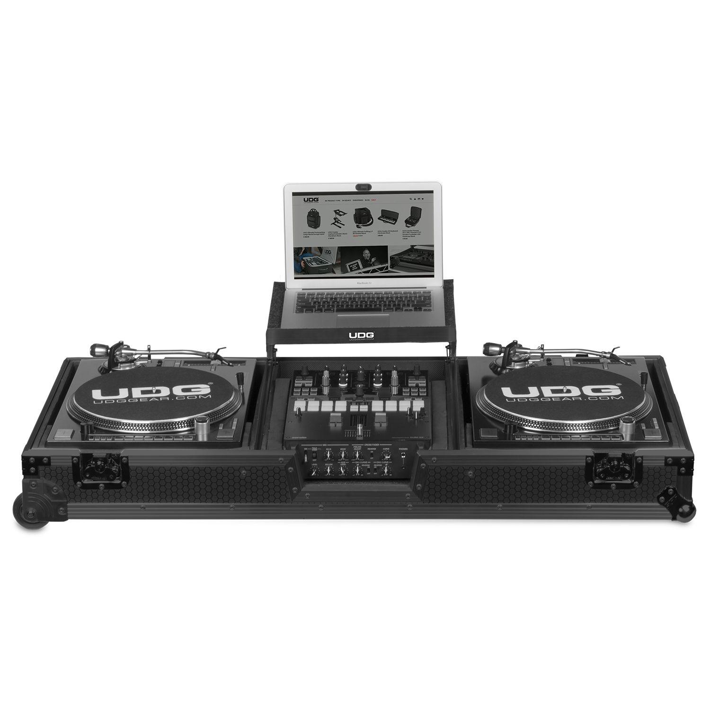 UDG Ultimate Flight Case Set Turntable & Mixer Black Plus (Laptop Shelf+Wheels) 245045